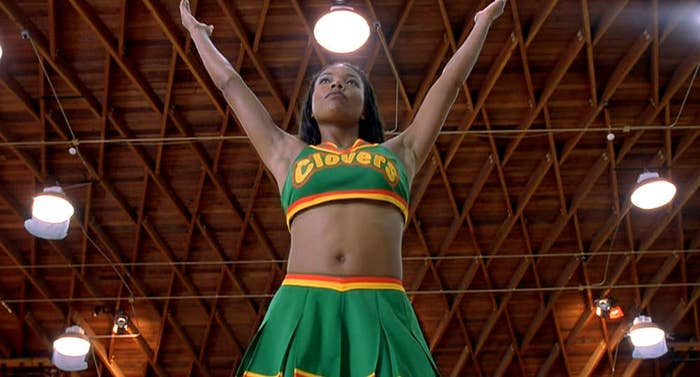 "Isis from ""Bring It On"" cheering in a gym"