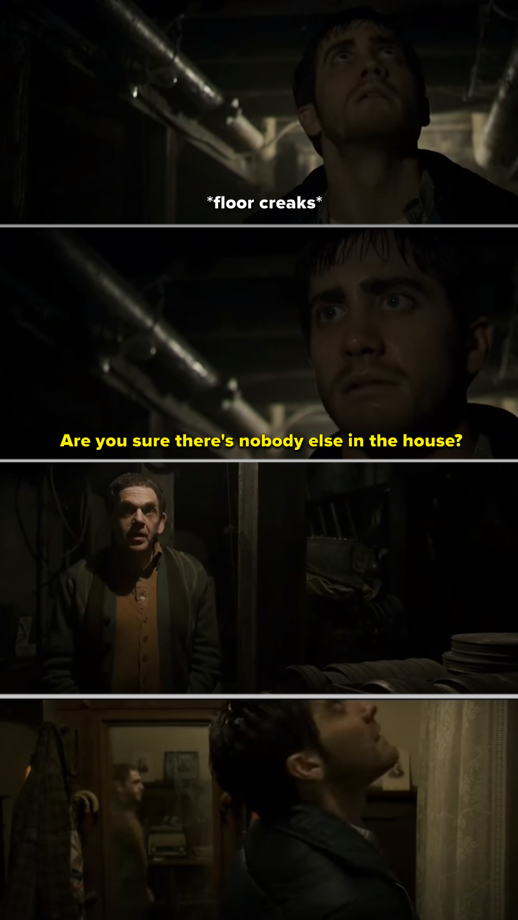 """Robert trying to escape Vaughn's house in """"Zodiac"""""""