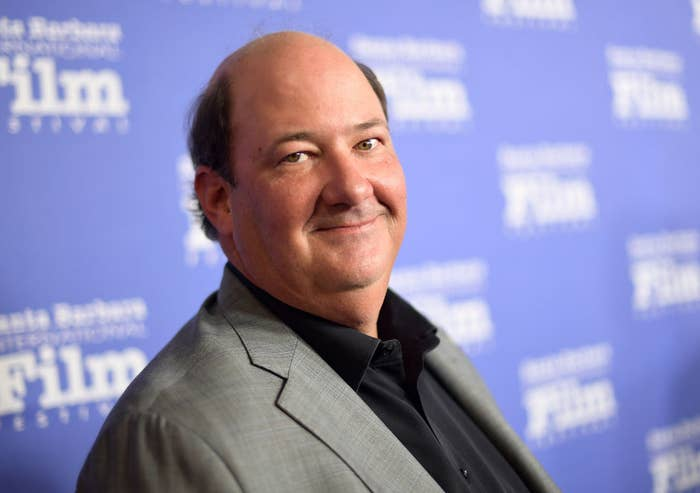 Brian Baumgartner wore a suit and button-up shirt to a Hollywood event