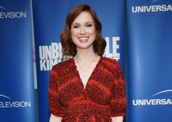 "Ellie Kemper attends an event for her ""Unbreakable Kimmy Schmidt"""