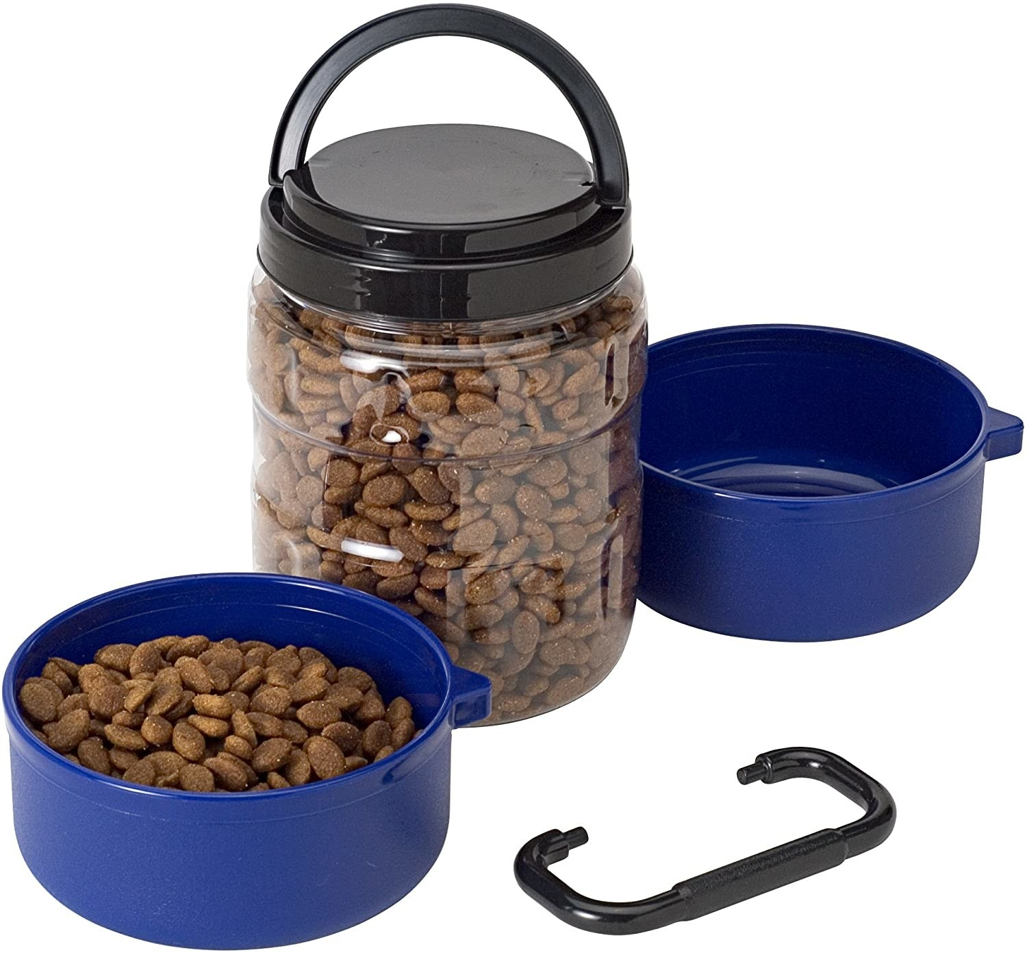 Dog Food carrier with two detachable bowls