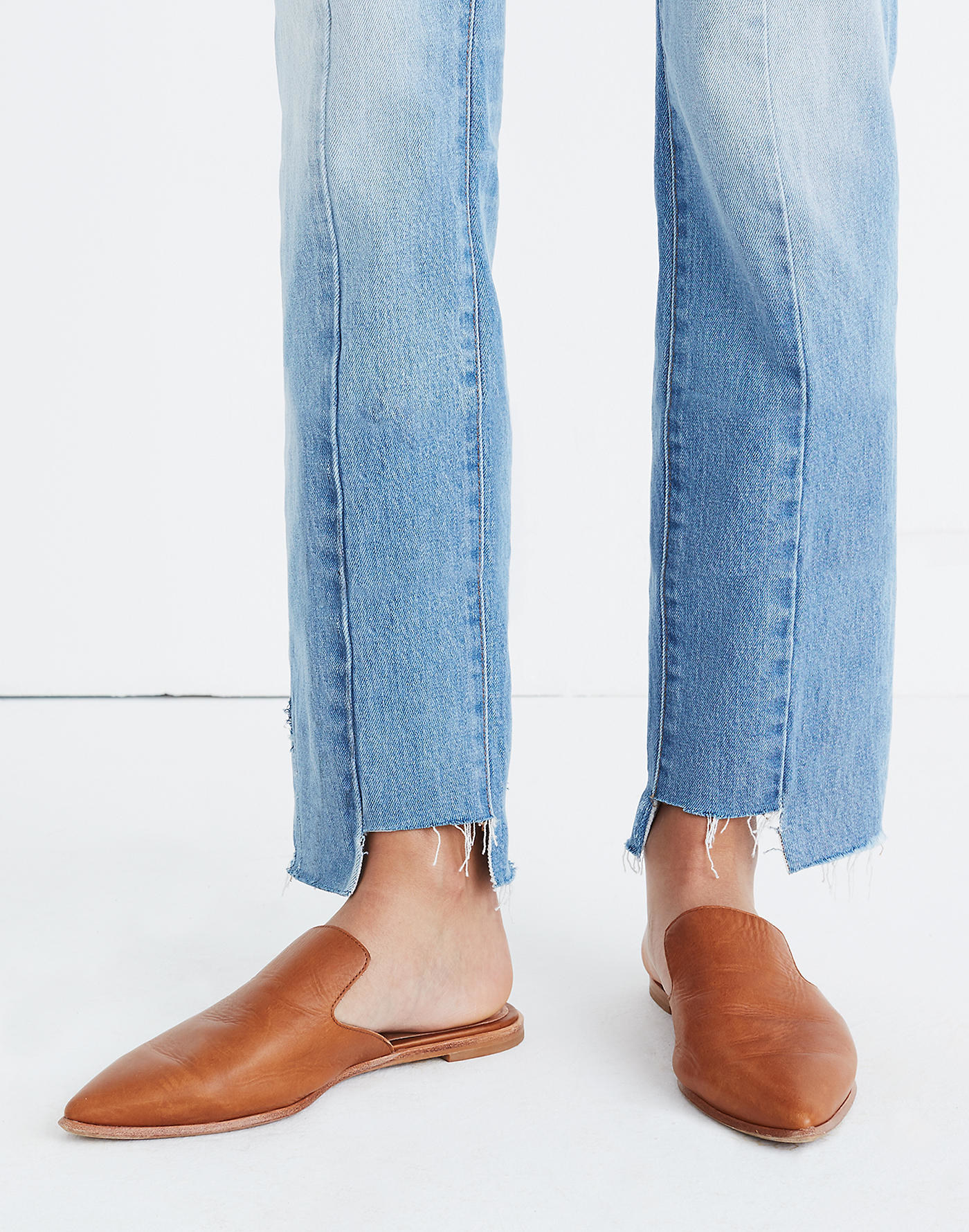 Madewell's The Gemma mule in English Suede
