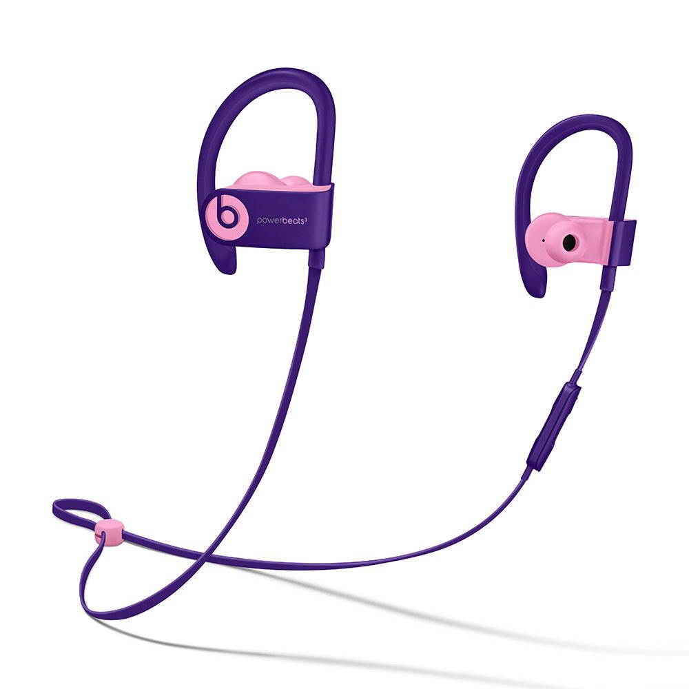 The purple headphones