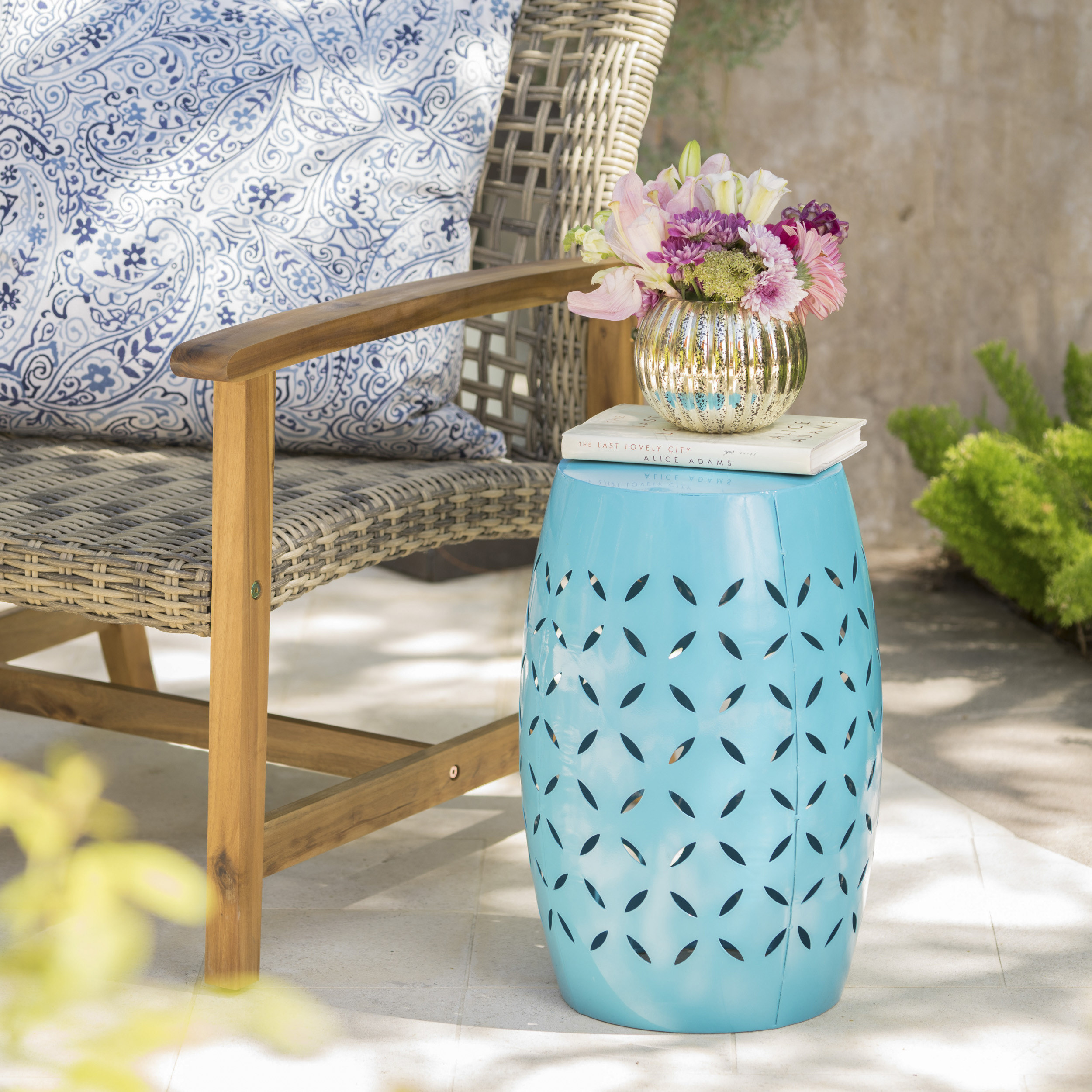 The teal accent table