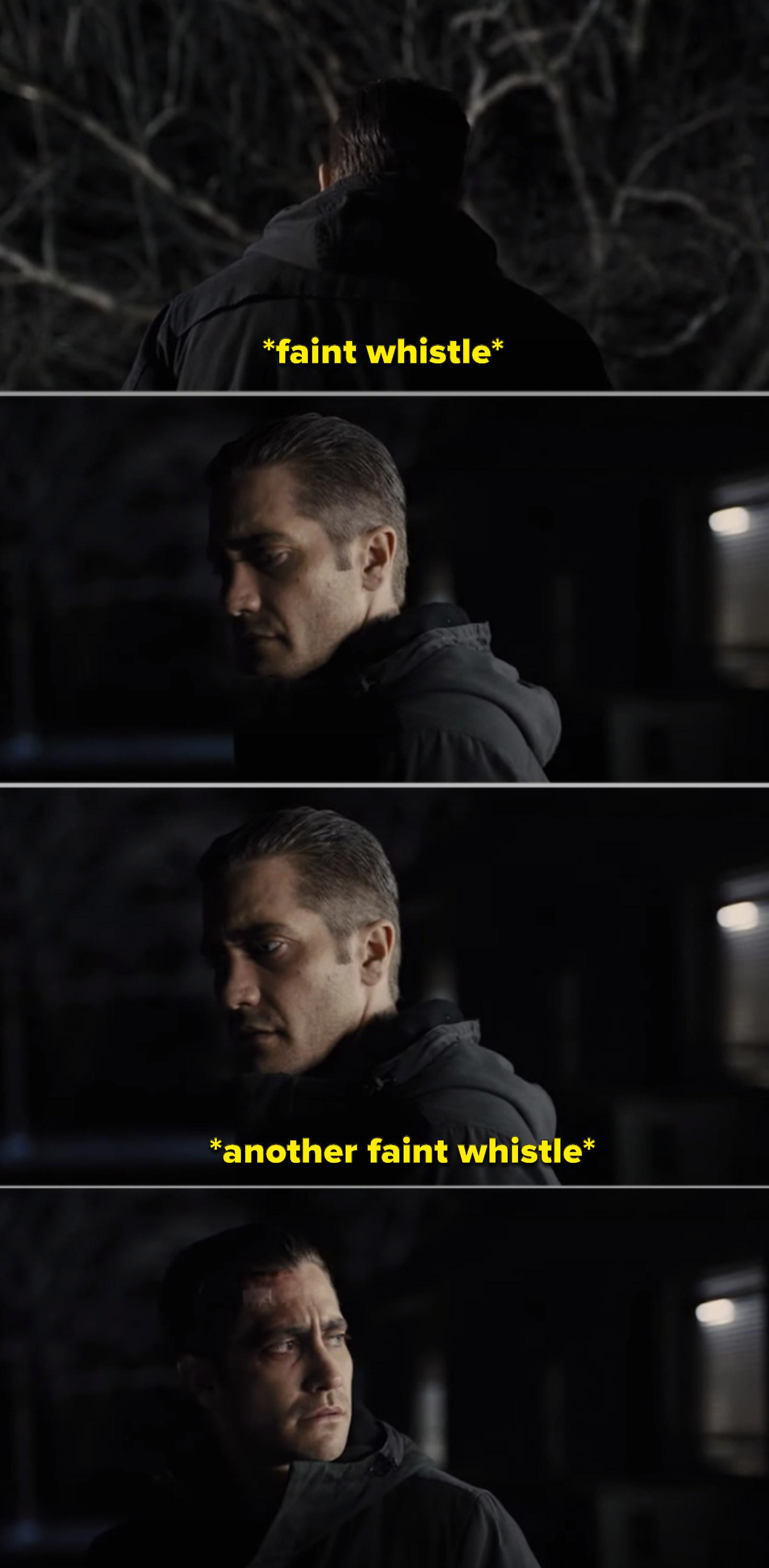 Detective Loki hearing Keller's faint whistles for help