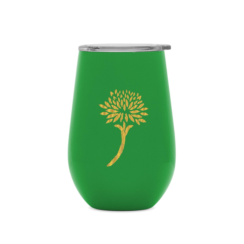 The green wine tumbler