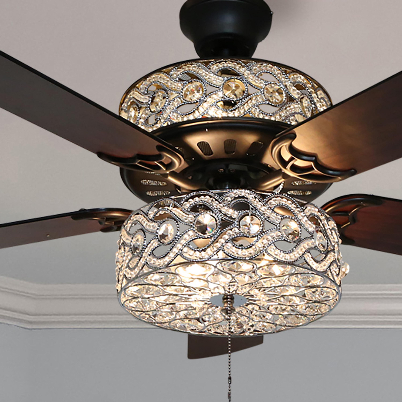 The chandelier-like ceiling fan