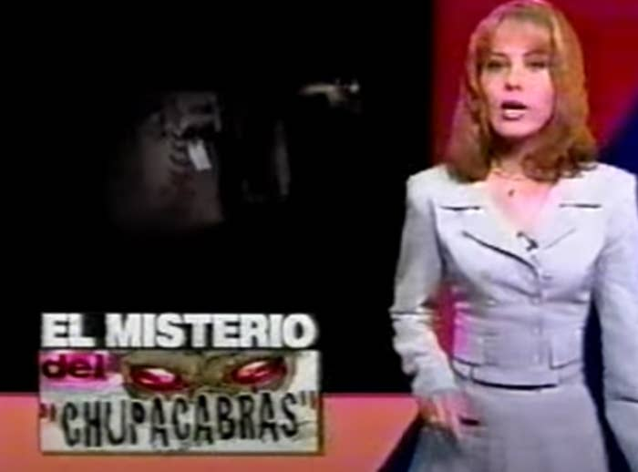 A screenshot of a host of Primer Impacto talking about the chupacbara