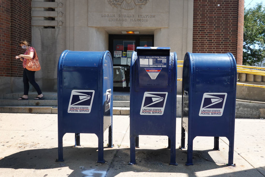 Blue dropoff mailboxes