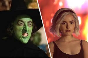 The wicked witch sneering at sabrina spellman