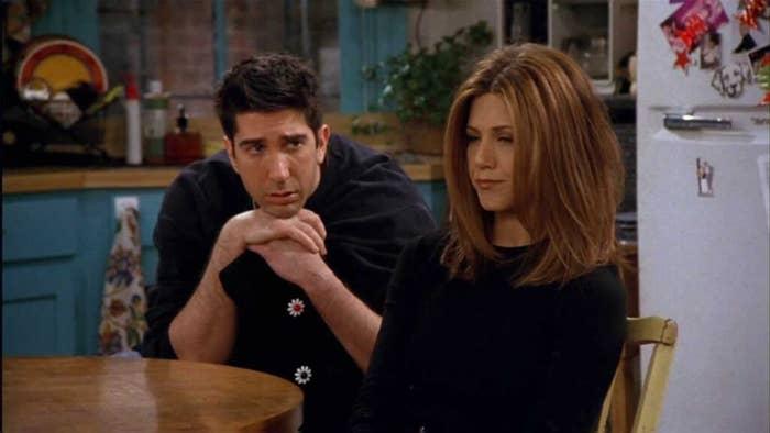 """Ross and Rachel break up on """"Friends"""""""