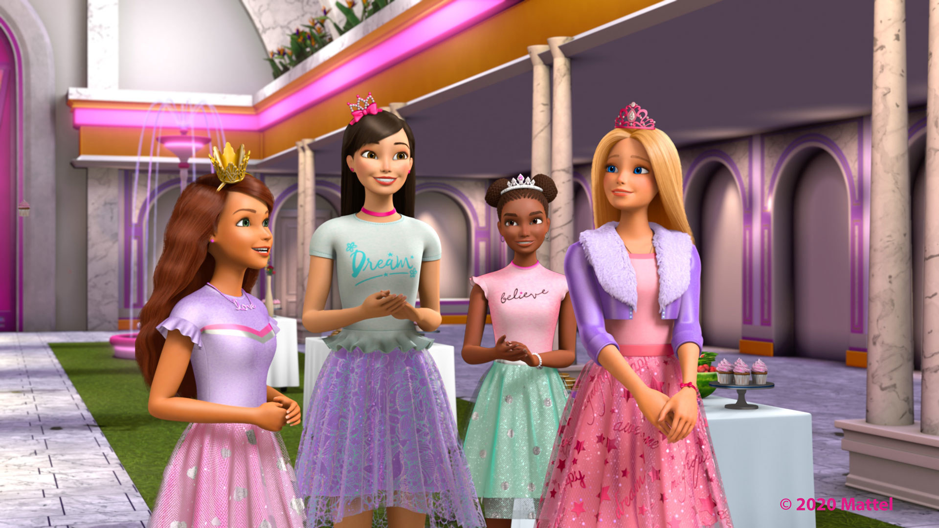 Barbie and a group of friends