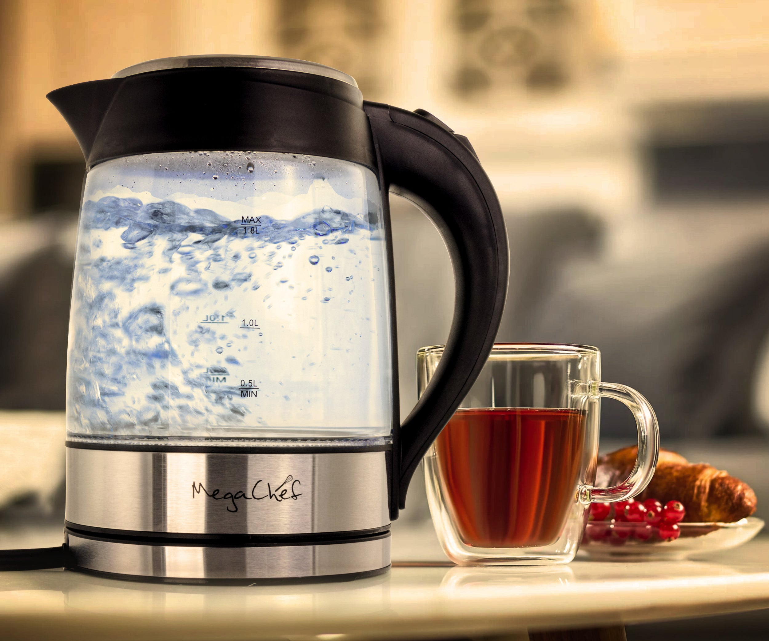 The electric tea kettle