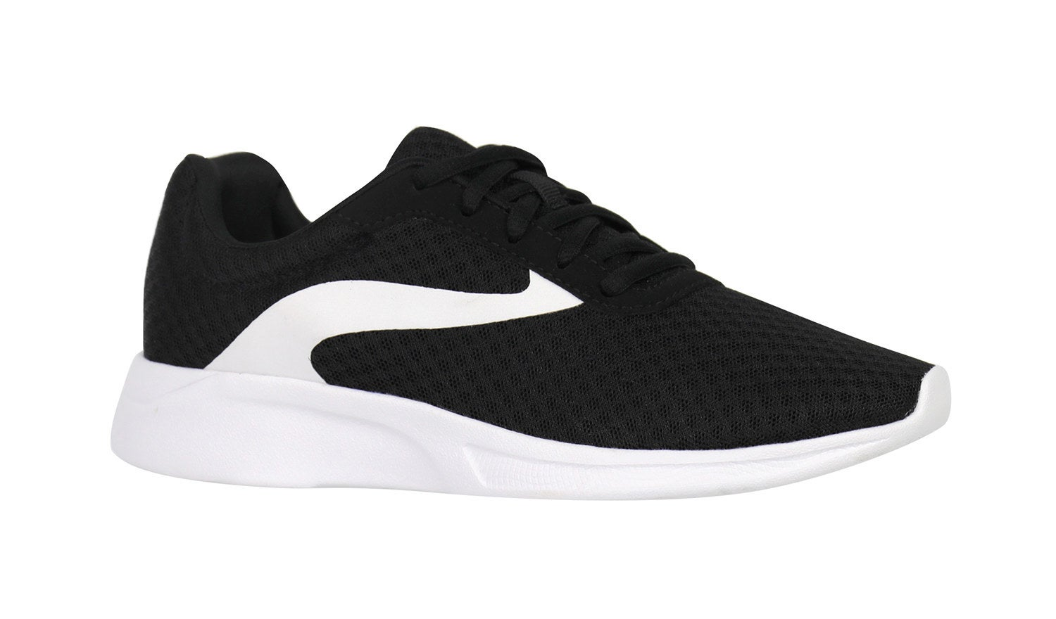 The sneakers in black and white