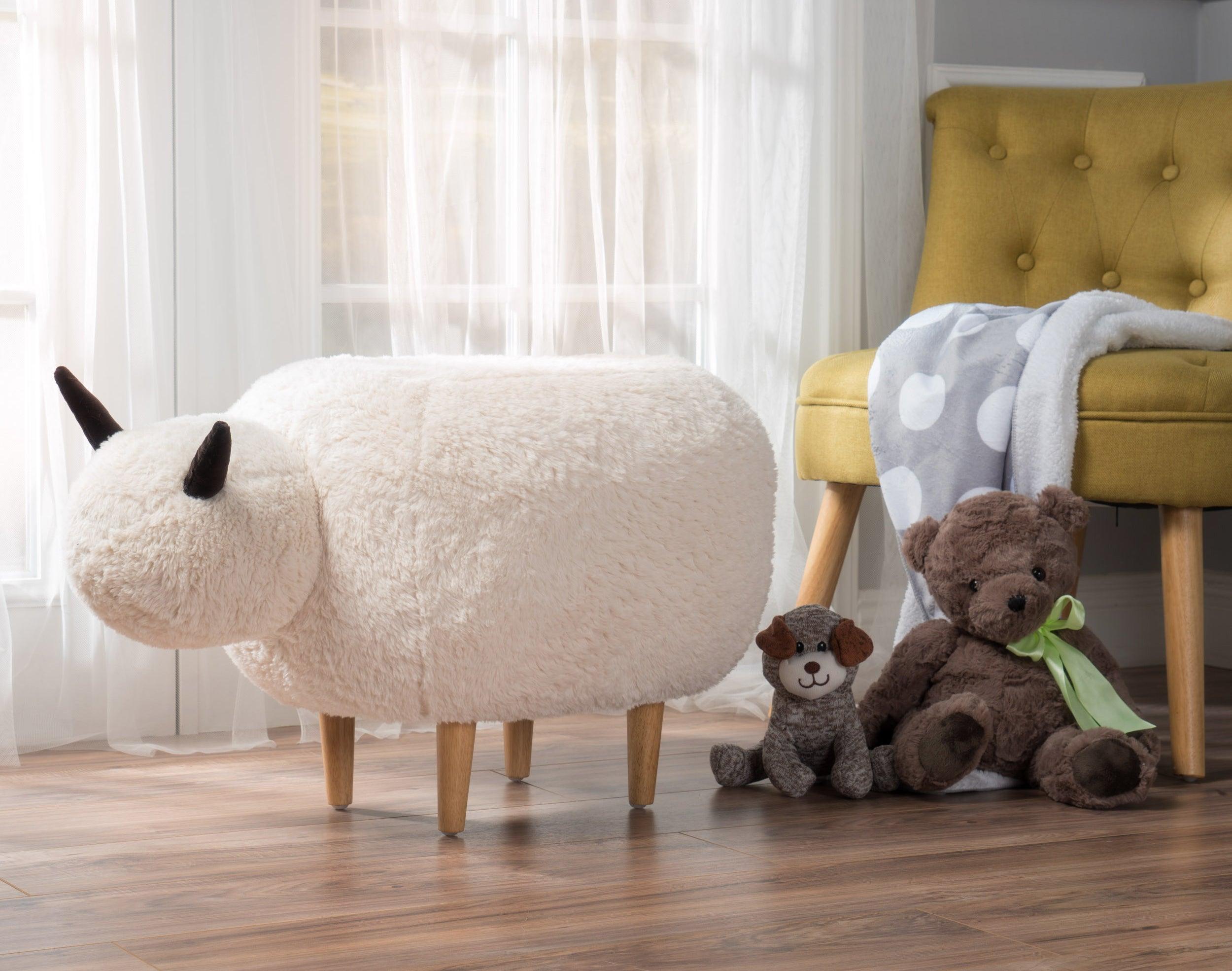 The sheep ottoman