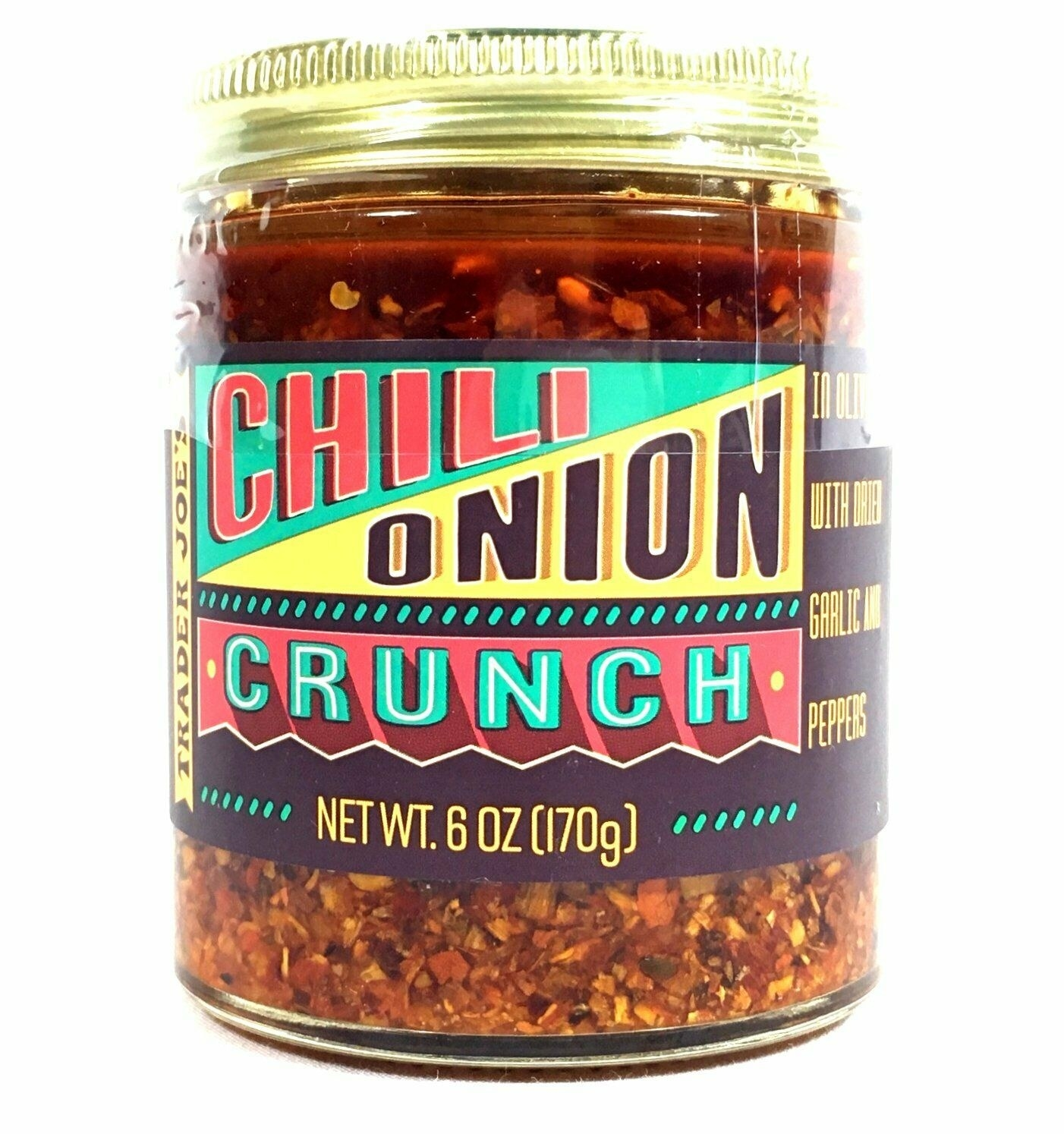 Jar of Trader Joe's Chili Onion Crunch