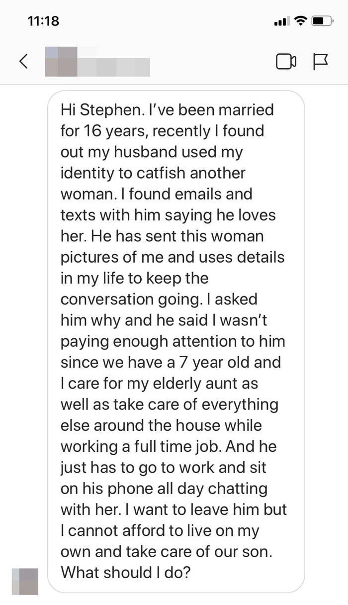 Screenshot of an Instagram DM