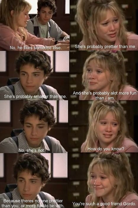 Lizzie says a boy likes someone prettier, smarter, and more fun than her. Gordo says she can't be because no one is more pretty and fun than Lizzie