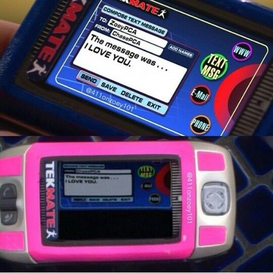 """textmate screens showing a message from Chase to Zoey that says """"The message was...I love you"""""""