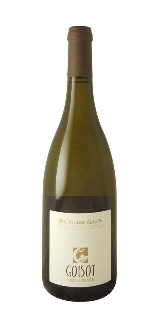A bottle of Goisot Bourgogne Aligoté 2018.