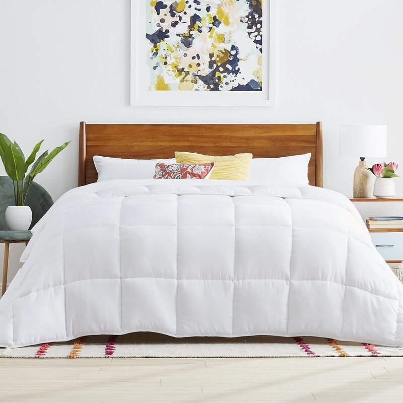 The Twiller Co.'s mid-weight alternative down comforter in white