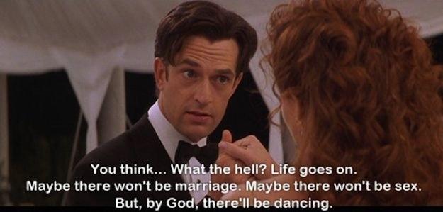 George dancing with Julia at Micahel's wedding