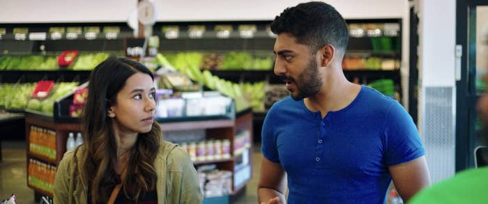 Monica and Sonny in a grocery store in Definition Please
