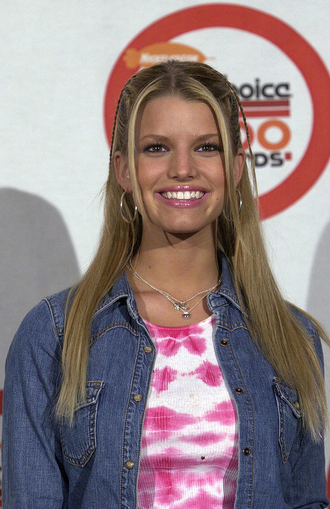 Jessica Simpson at an event in the early '00s