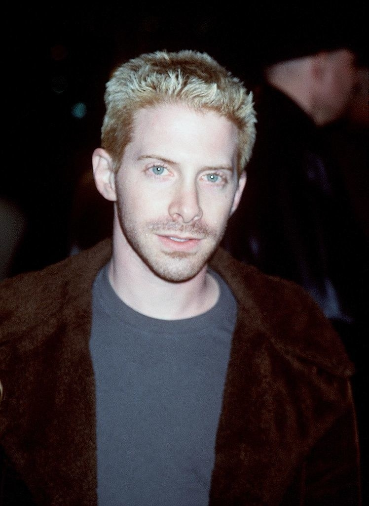 A photo of Seth Green with bleach blonder hair at a premiere in the late '90s