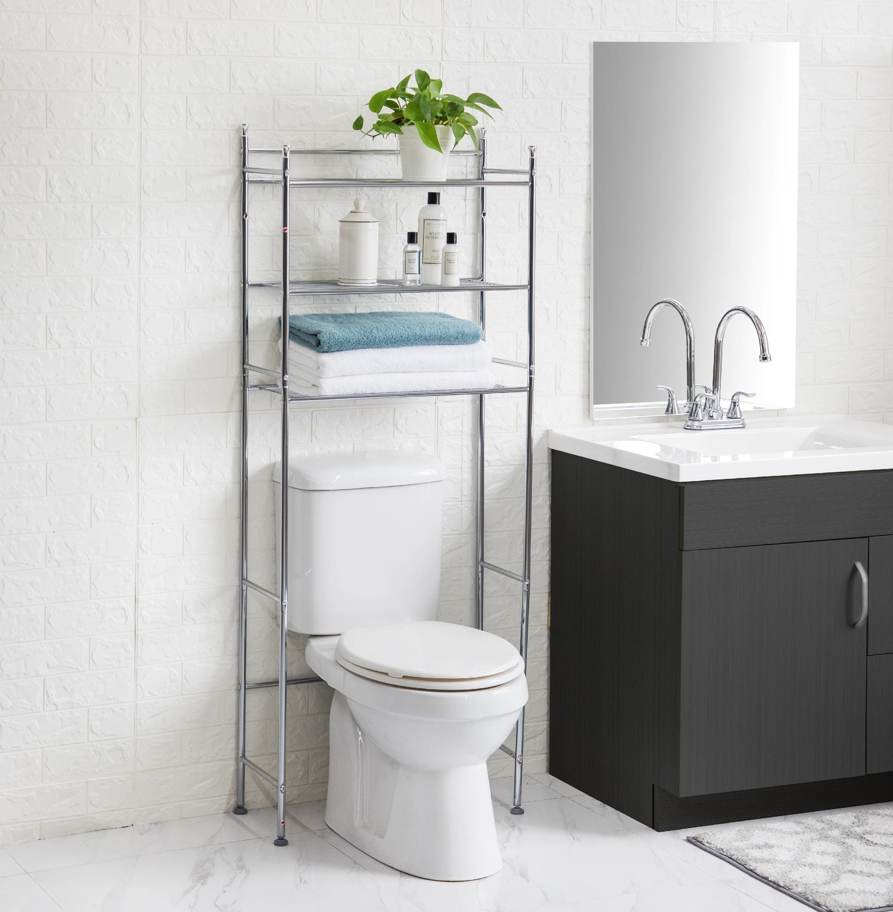 The organizer over a toilet