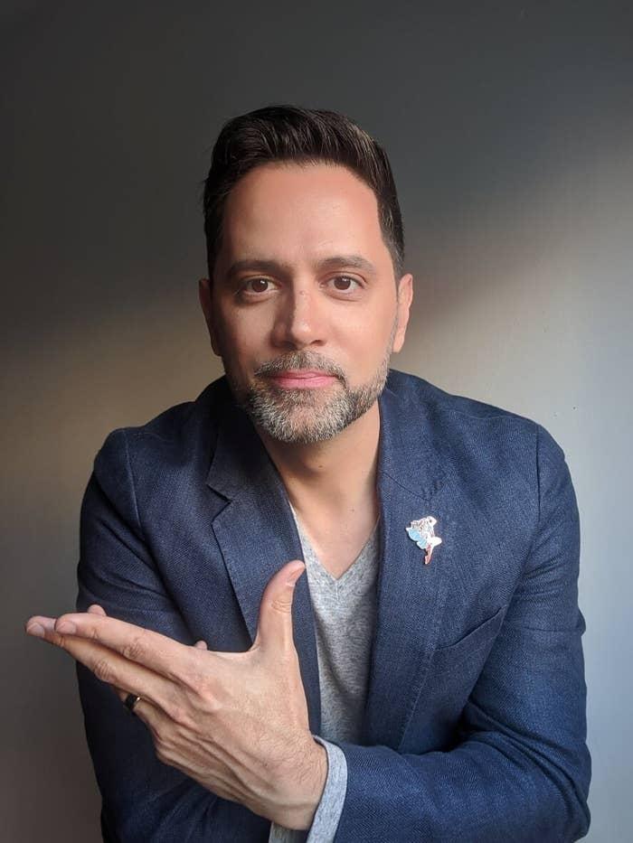 Portrait of comic book creator Edgardo Miranda-Rodriguez.