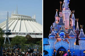 Space Mountain and Sleeping Beauty's castle