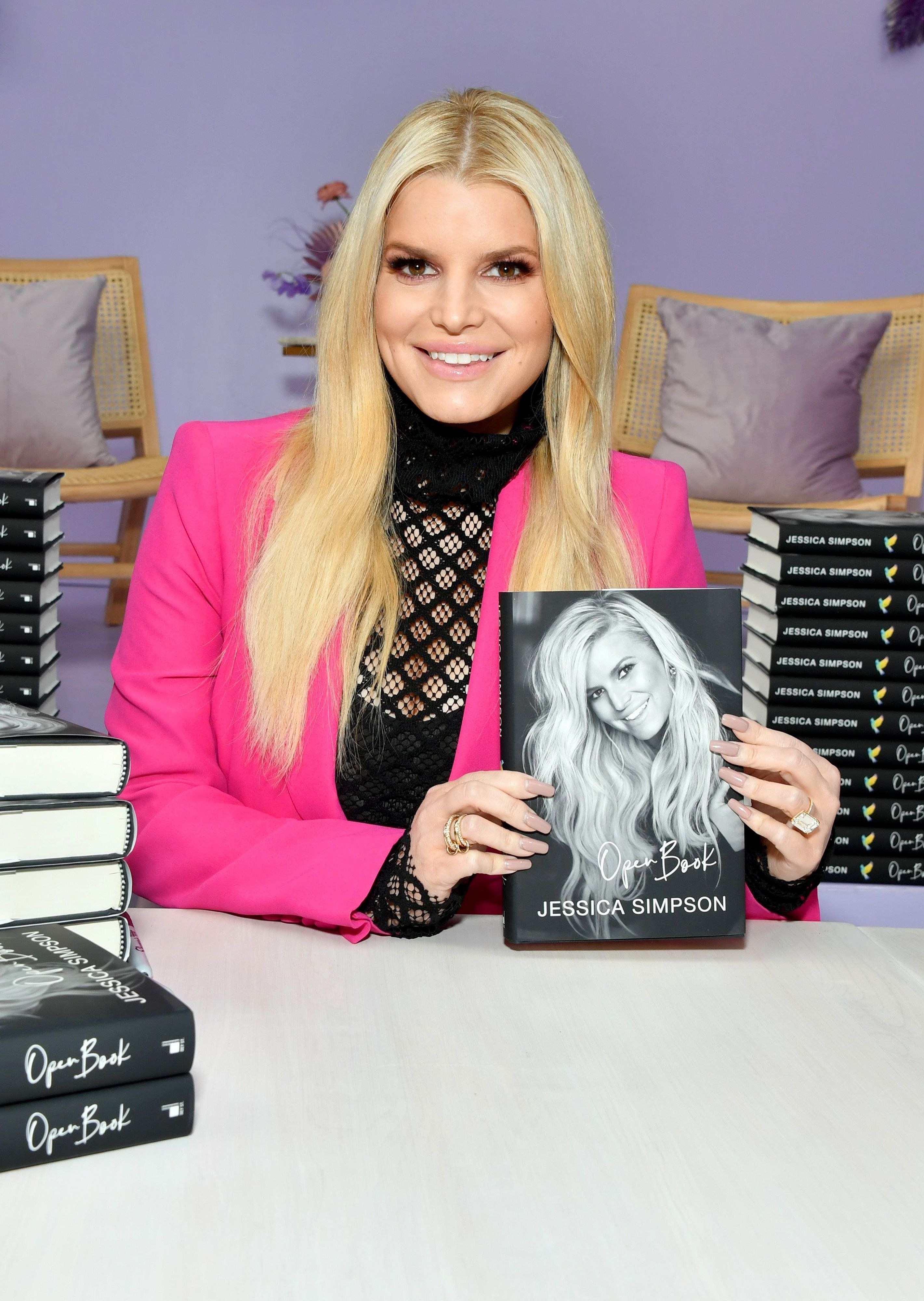 Jessica Simpson at a book signing