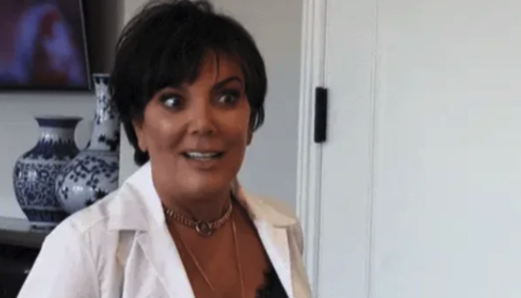 Kris Jenner looking shocked