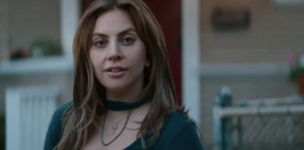 """Lady Gaga looking shocked in """"A Star Is Born"""""""