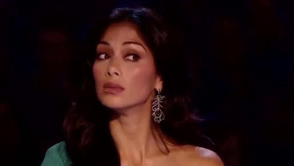 Nicole Scherzinger looking skeptical