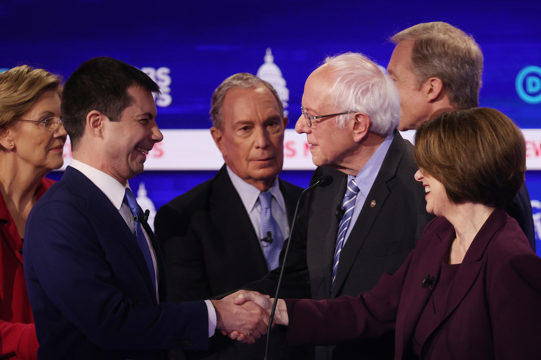 Mike Bloomberg looking confused at the debate