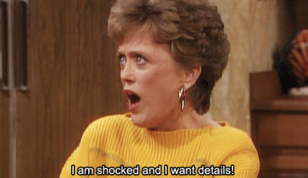 """Rose from """"The Golden Girls"""" being shocked"""