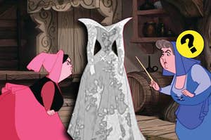 Two fairies fighting over who the Disney dress belongs to