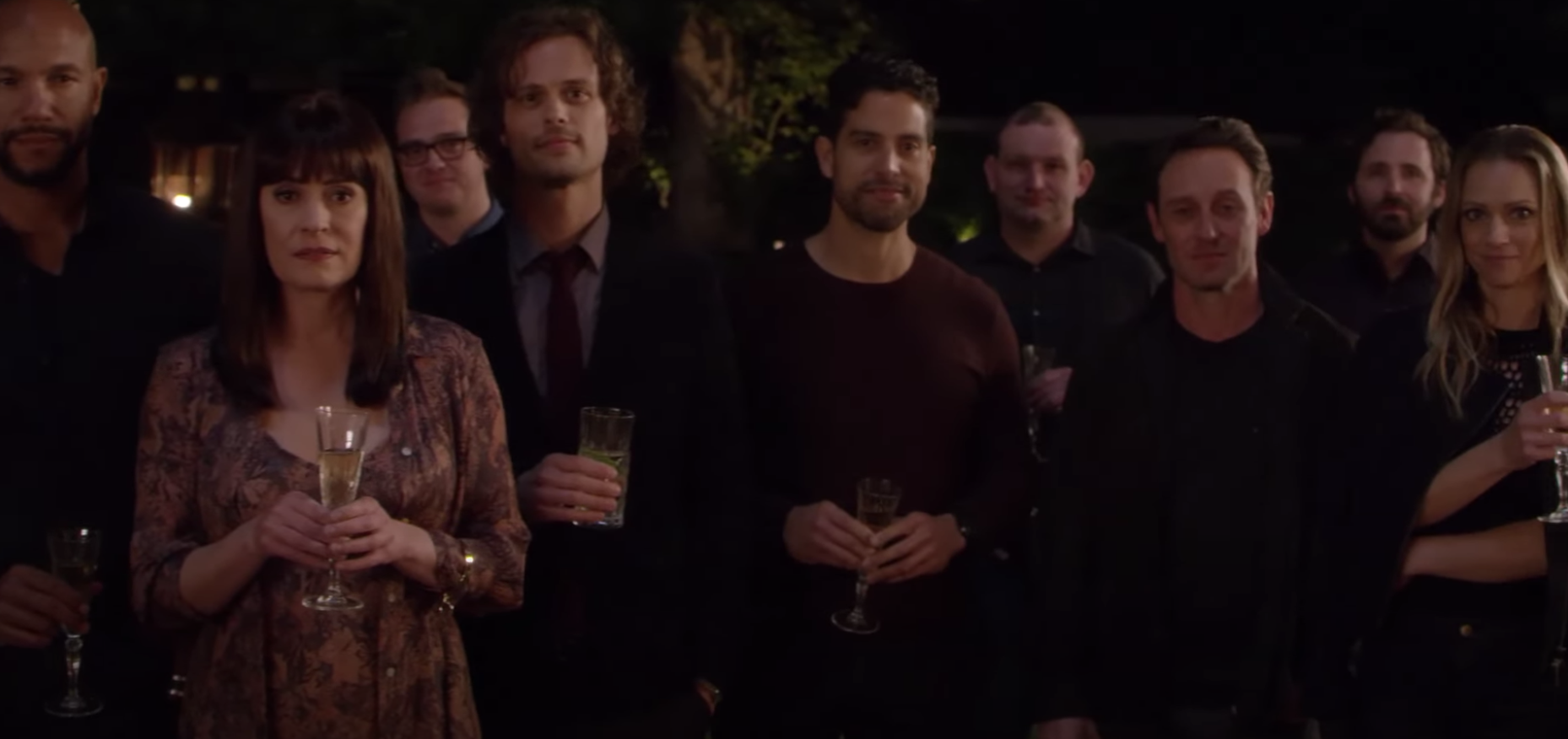 "The ""Criminal Minds"" team enjoy a retirement party."