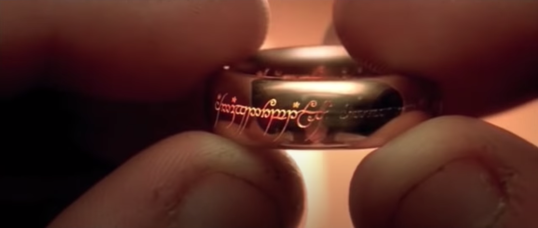 """Frodo holds the ring in """"Lord of the Rings: The Fellowship of the Ring."""""""