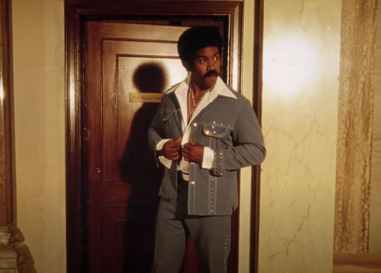 """Black Dynamite"" does up his rhinestone coat."