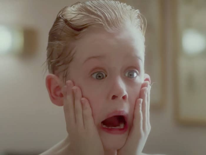 Kevin screaming into a mirror in Home Alone