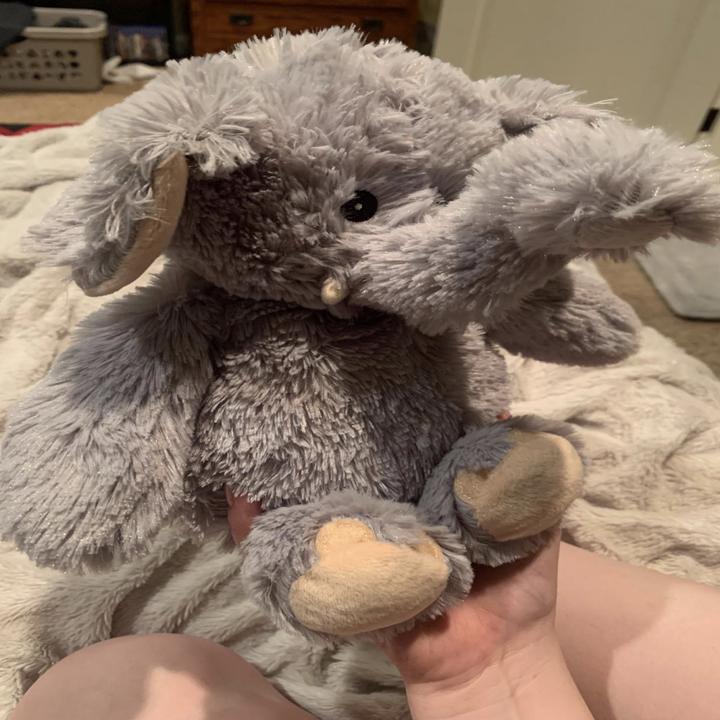 A stuffed elephant