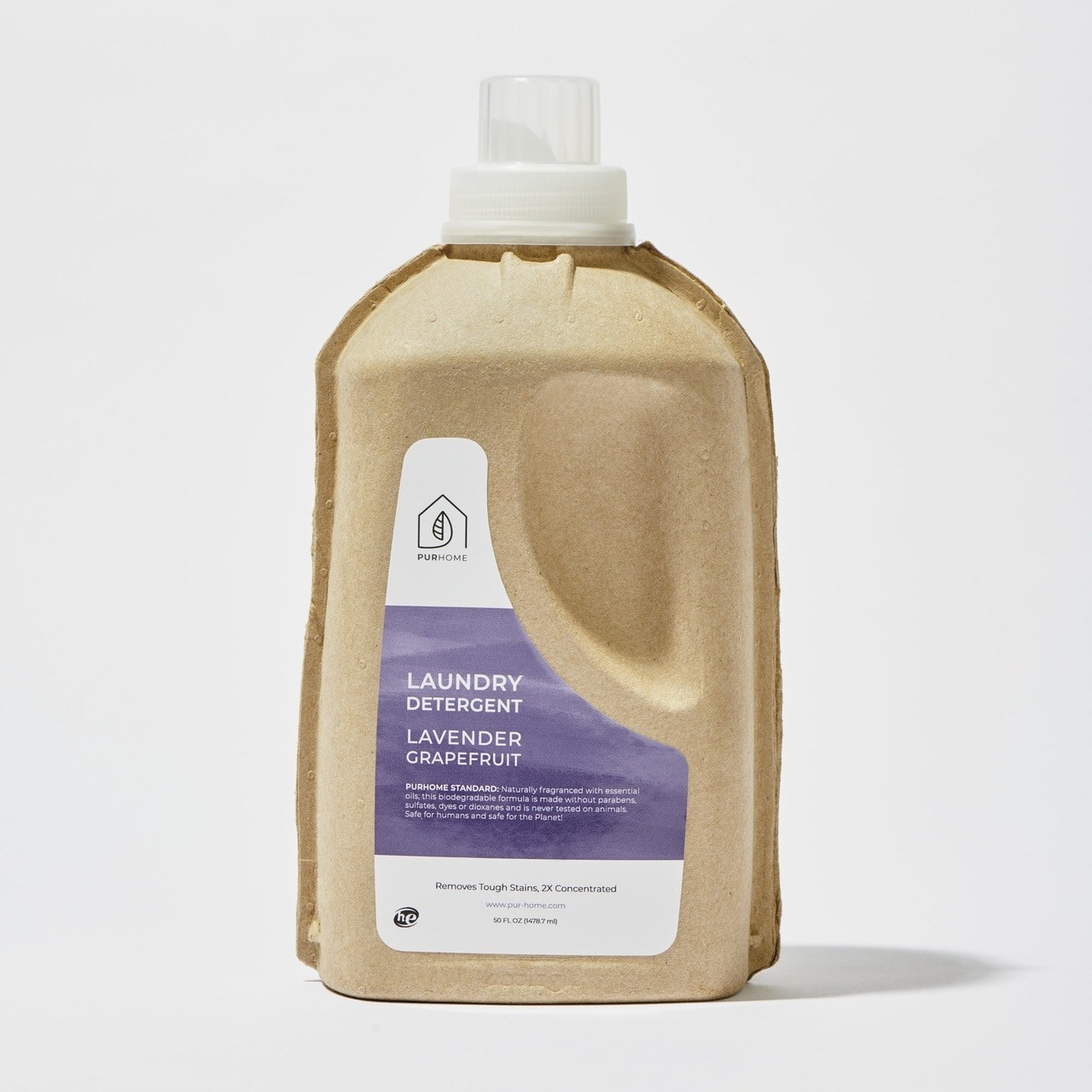 Product photo showing PurHome lavender grapefruit laundry detergent