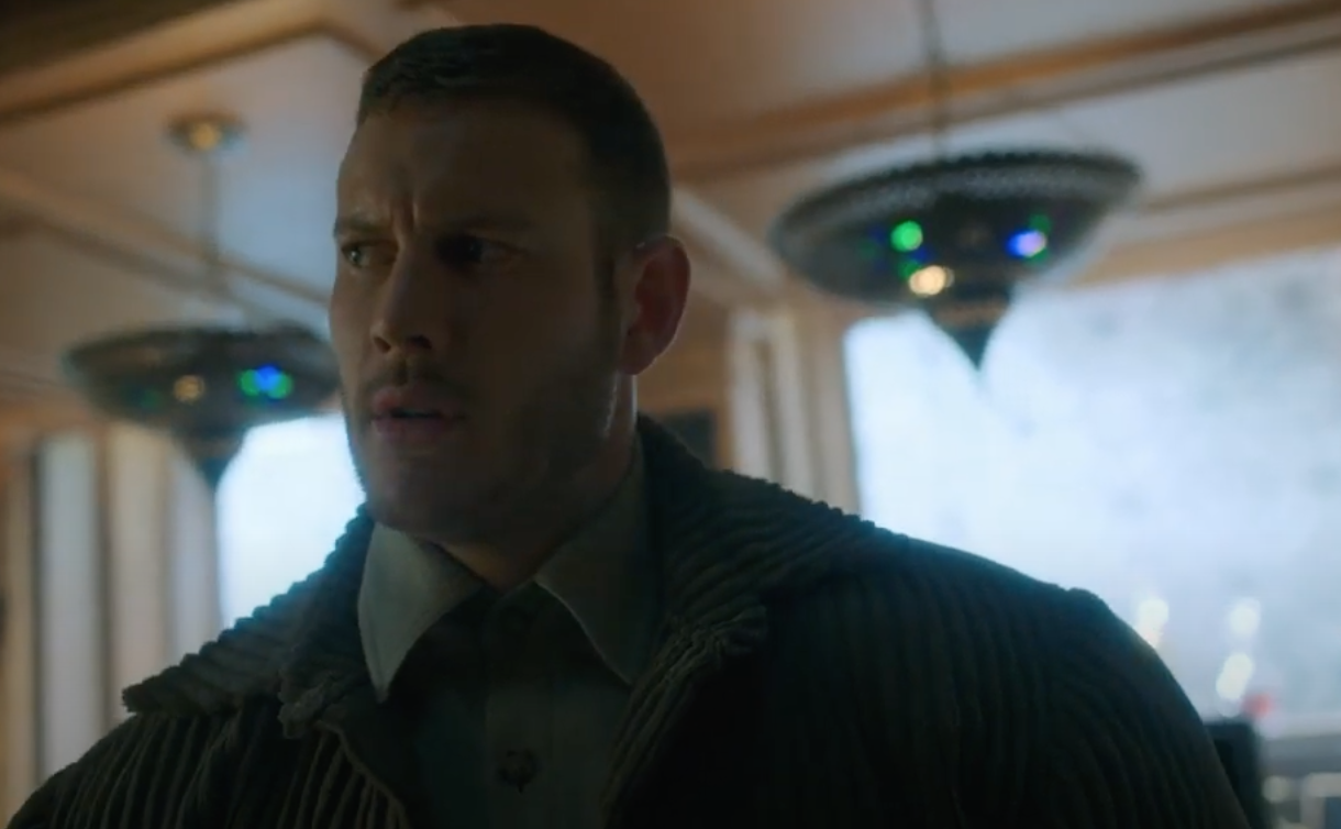 "Luther from ""Umbrella Academy"" looks confused"