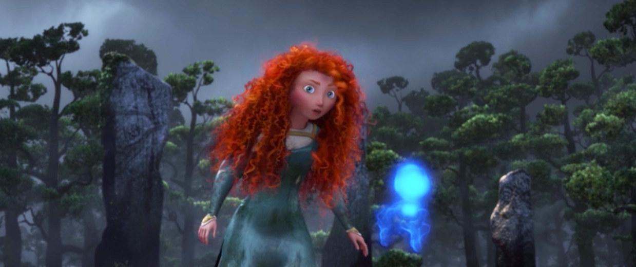 """Merida encounters a wisp in """"Brave"""""""