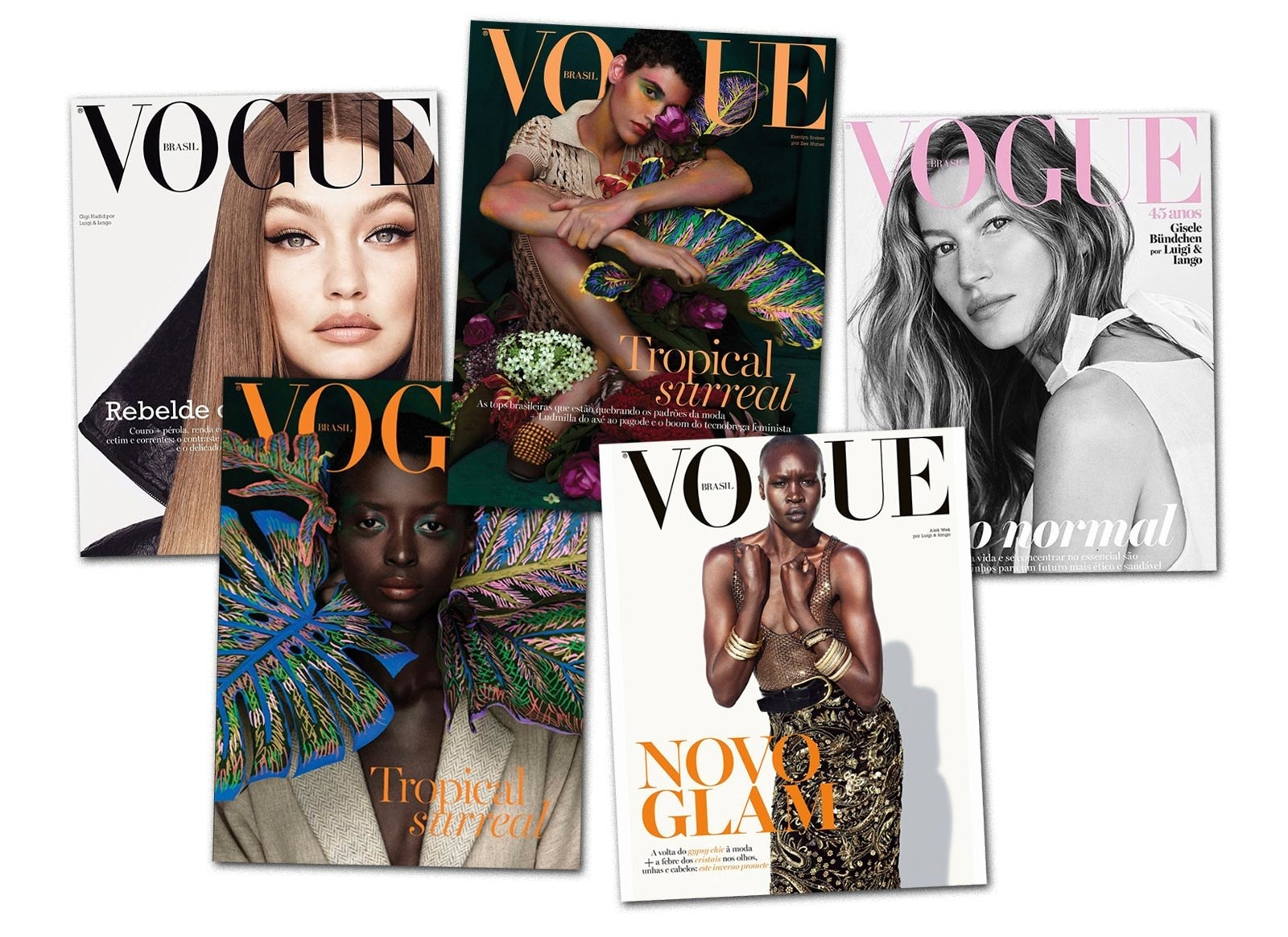 Various covers of Vogue Brazil