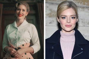 """Side by side of Grace from """"The Umbrella Academy"""" and Samara Weaving"""
