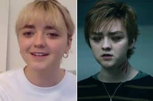 Maisie Williams and Rahne from